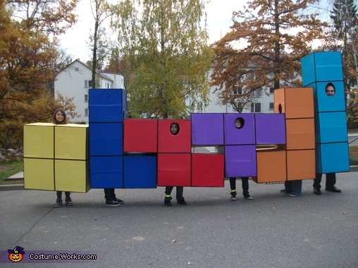 Our Tetris costume from 2010, Pac-Man Family Costume