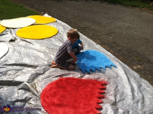 Kiddos helped with painting., Pac-Man and Crew Costume