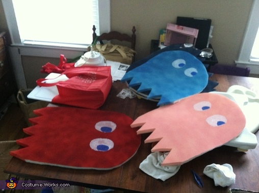 The finished Ghosts., Pac-Man and Crew Costume