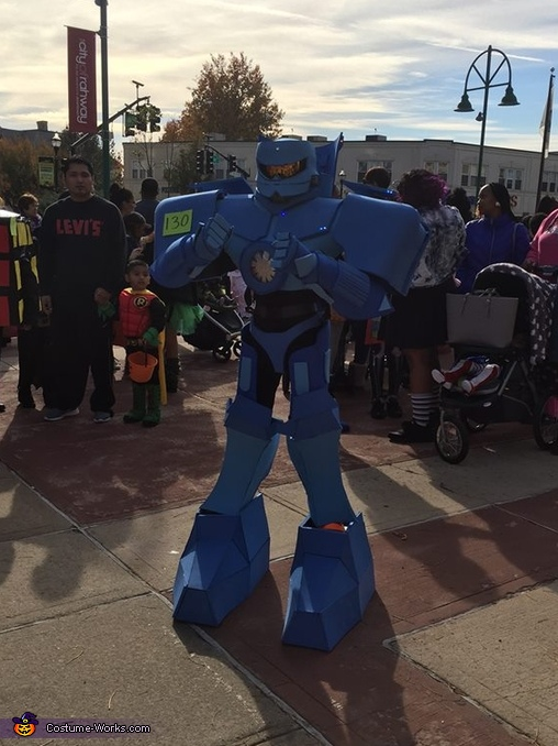 At the parade, Gypsy Danger from Pacific Rim Costume