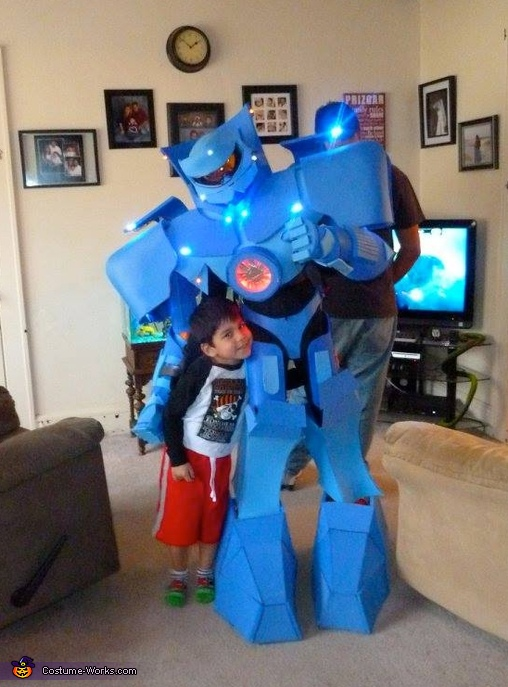 With family friends, also fans of Pacific Rim, Gypsy Danger from Pacific Rim Costume