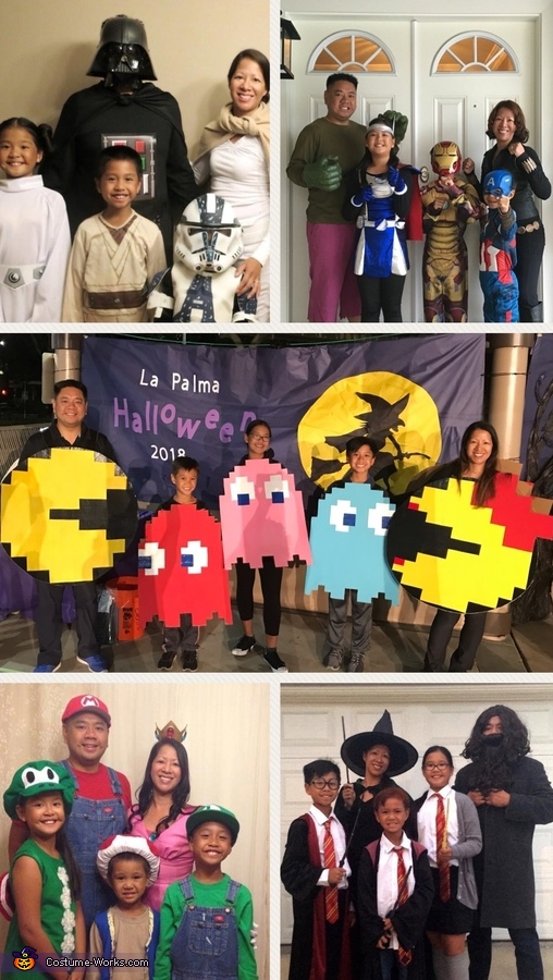 Collage of the next 5 years., PacMan Family Costume