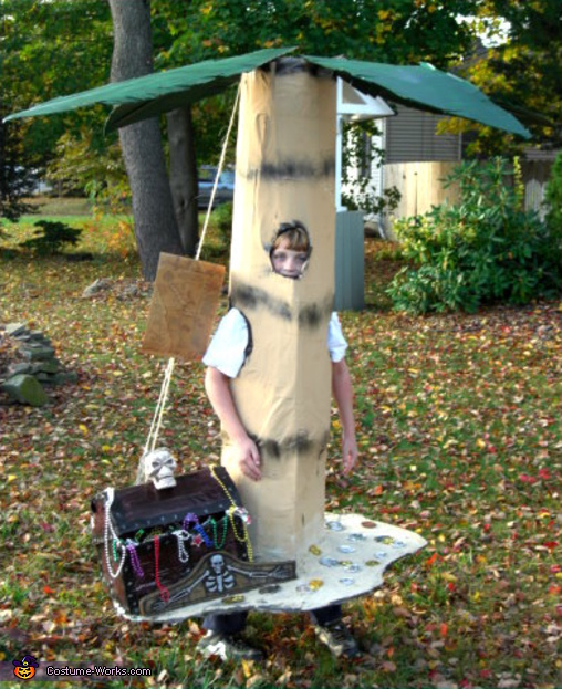 Palm Tree with Treasure Chest - Homemade costumes for boys