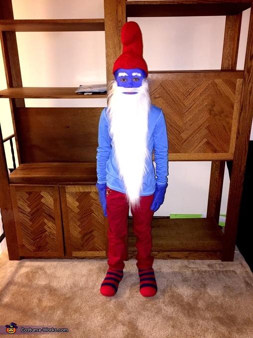 Aden , Papa Smurf Costume