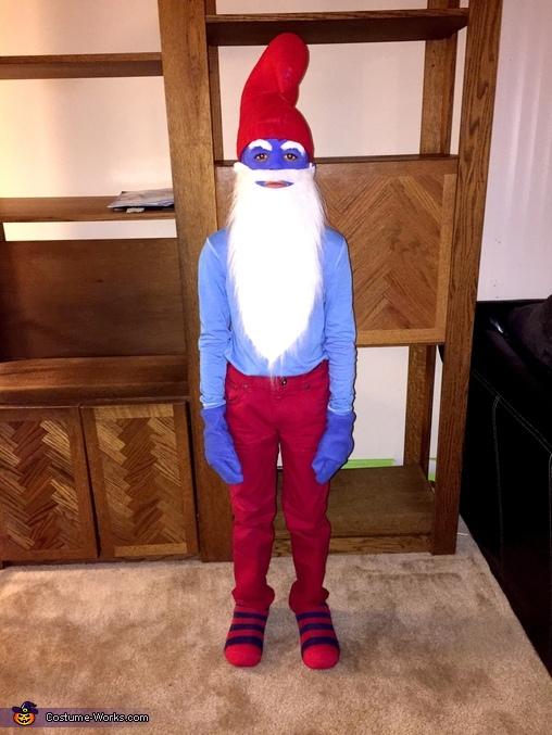 Alex , Papa Smurf Costume