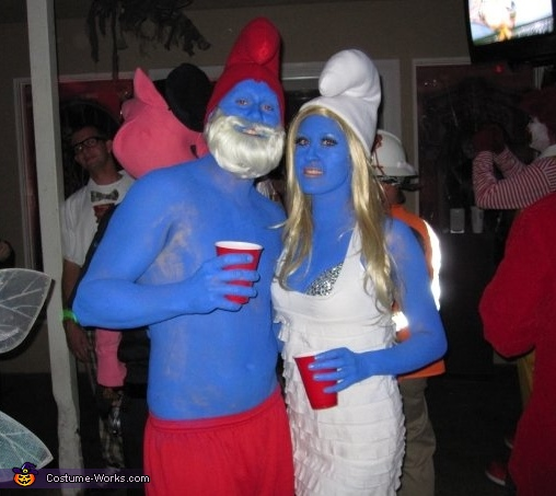 Papa Smurf and Smurfette Couple Costume
