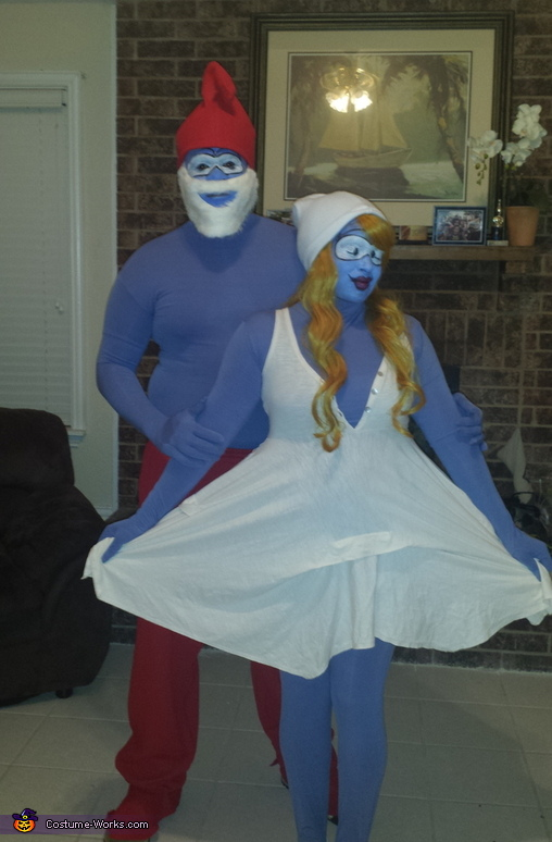 Papa Smurf and Smurfette Costume