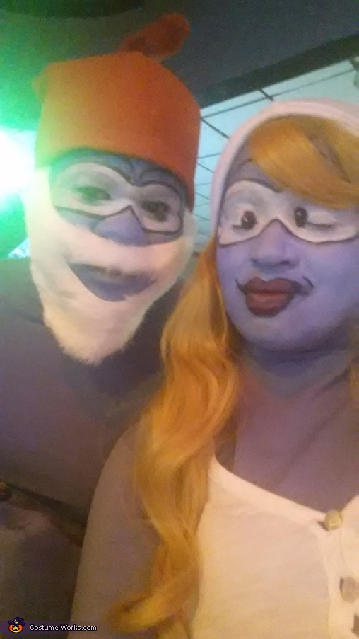 Papa Smurf and Smurfette Homemade Costumes