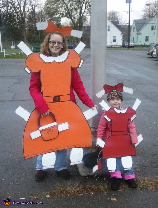 Paper Dolls - Homemade costumes for girls