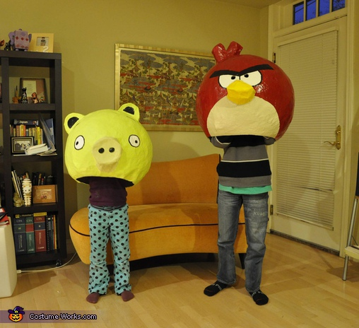 Paper Mache Angry Birds Costumes