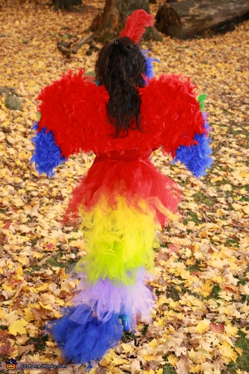 Parrot. Back View. , Parrot Costume