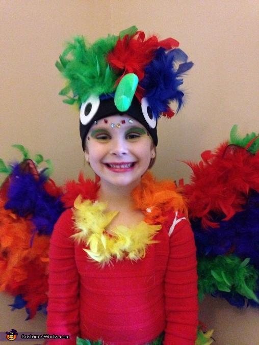 Parrot Girl Homemade Costume