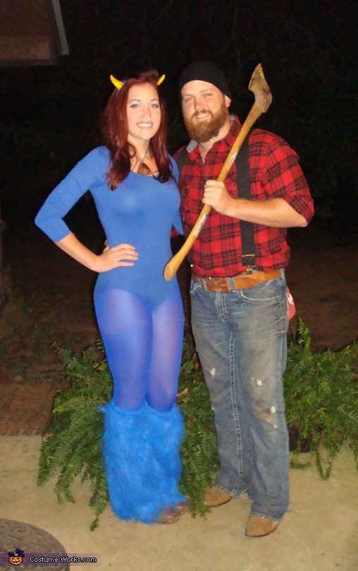 Paul Bunyan and Babe the Blue Ox Costume c628e405859