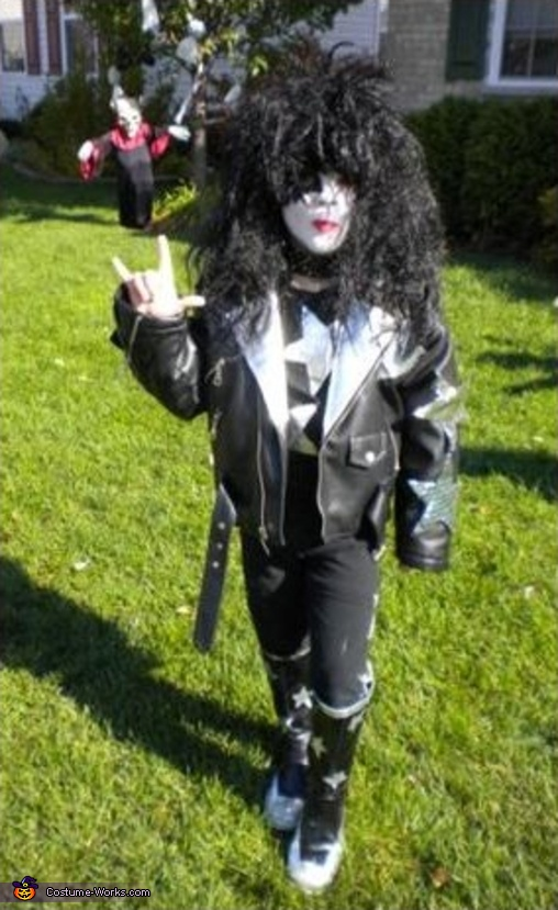 7 yr. old Brett IS: Paul Stanley, Kiss Band Costume