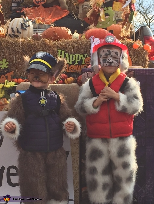 Paw Patrol Marshall and Chase Costumes