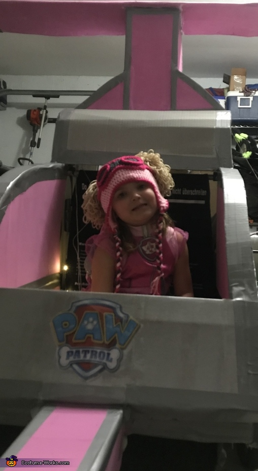 Paw Patrol Skye flying in her Helicopter Costume