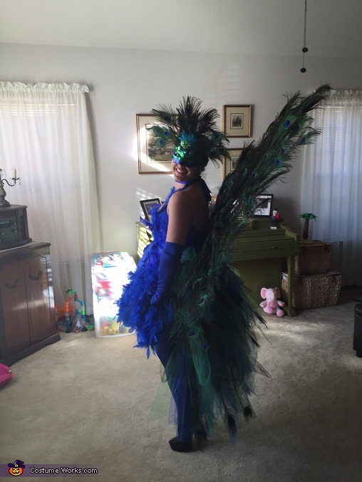 Side view, Peacock Costume
