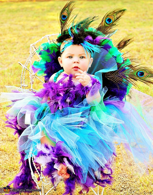 Peacock - Homemade costumes for babies