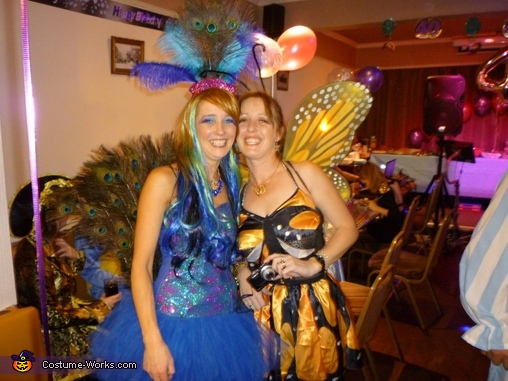 peacock and my sis the butterfly!, Peacock Costume