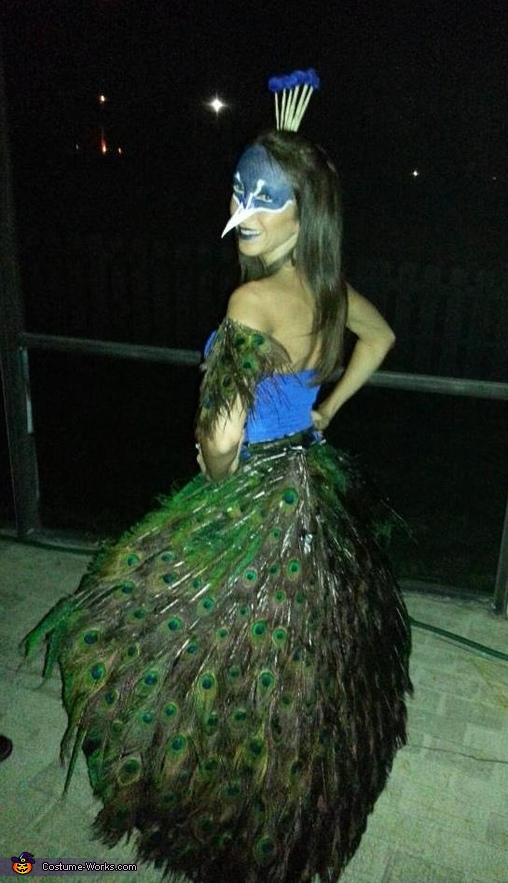 Feathers Down, Peacock Costume