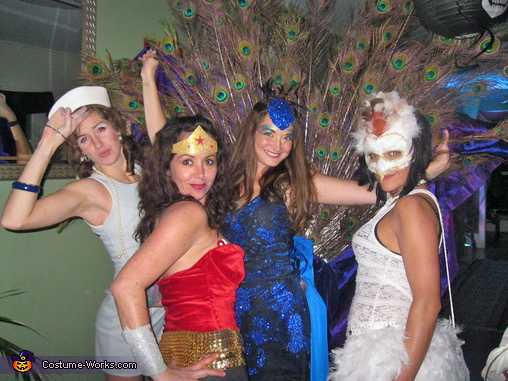 I lost most of my glitter by the end of the evening :(, Peacock Costume