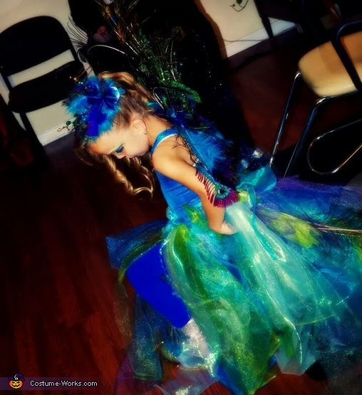 Peacock Princess Homemade Costume