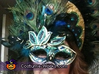 Peacock Showgirl  - Mask and Headdress, Peacock Showgirl Costume