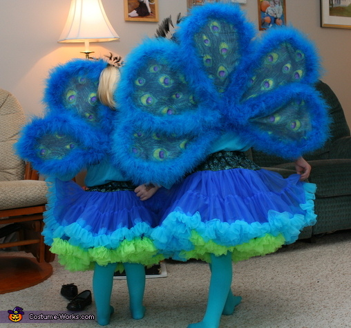 Backs, Peacock Sisters Costume
