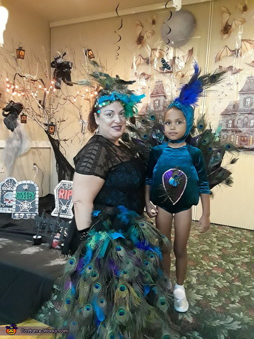 Momma and baby peacock, hoemade costumes!, Peacocks Costume