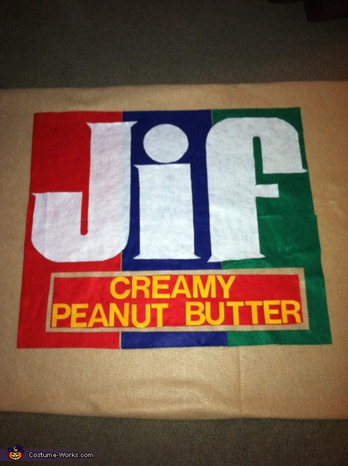 Peanut Butter layout, Peanut Butter & Jelly Costume
