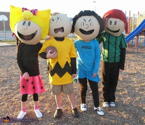 Sally, Charlie Brown, Lucy and Peppermint Patty, Peanuts Gang Costume