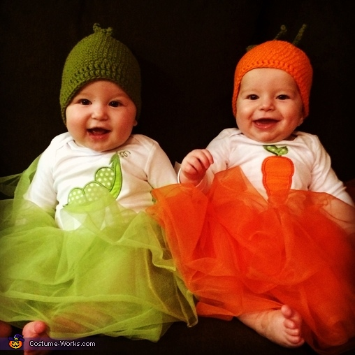 Peas & Carrots Twin Babies Costume