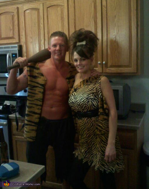 Pebbles and Bam Bam - Homemade costumes for couples