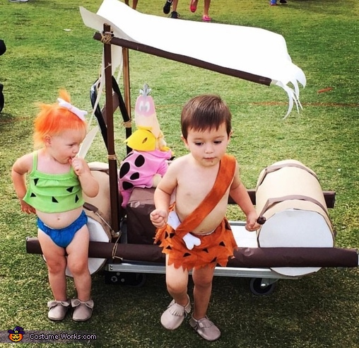 Pebbles and Bam Bam Costume & Pebbles and Bam Bam Babies Halloween Costume