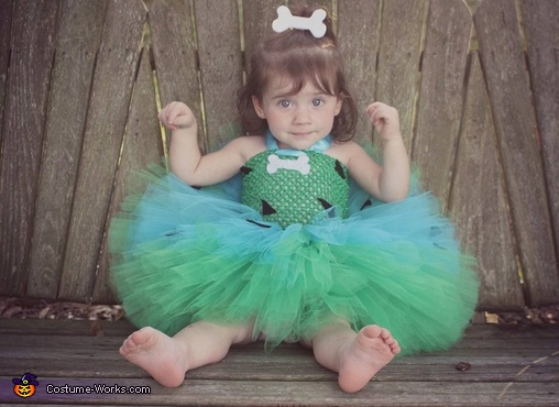 Pebbles Baby Homemade Costume