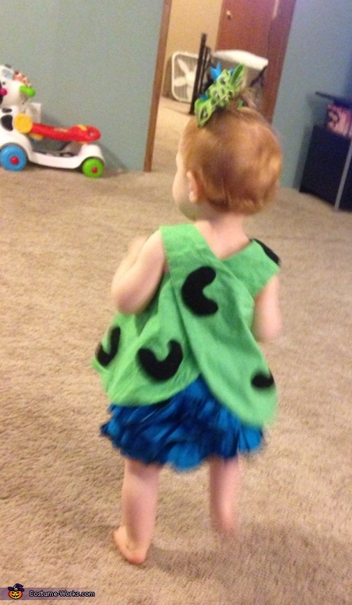 DIY Pebbles Baby Costume Idea