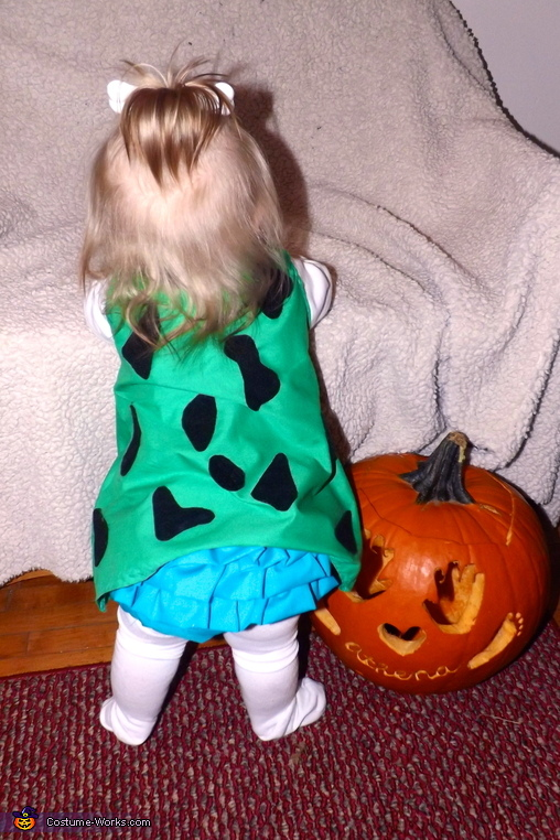 Ruffle diaper cover for a little extra touch :), Pebbles Flintstone Baby Costume
