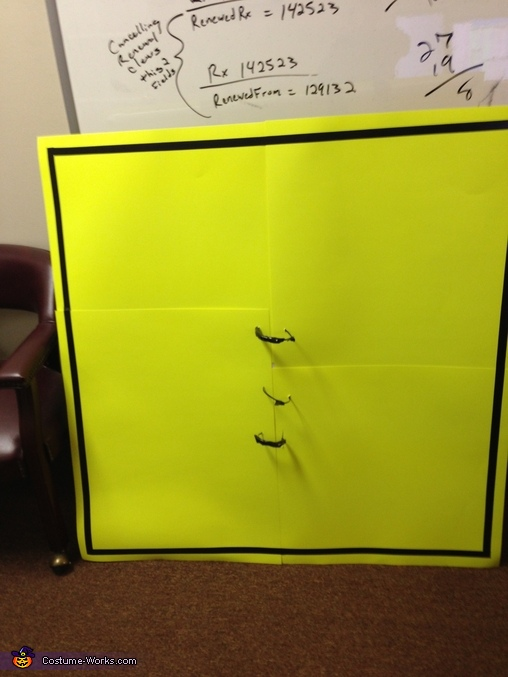 Sign Front, Pedestrian Crossing Sign Costume