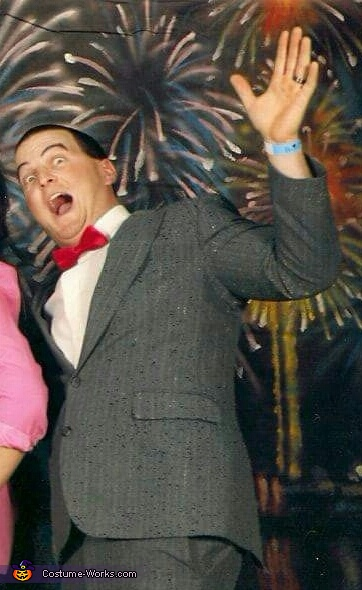 Payson's dad, Barry, as Pee Wee 5 years ago, Pee Wee Herman Costume