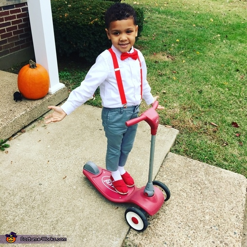 We had a red scooter inside of a red bike!, Pee Wee Herman Costume