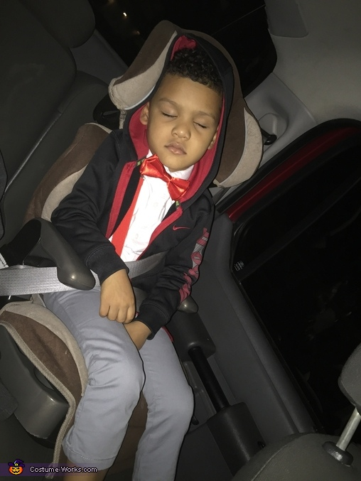 All the Halloween fun wore pee wee out., Pee Wee Herman Costume