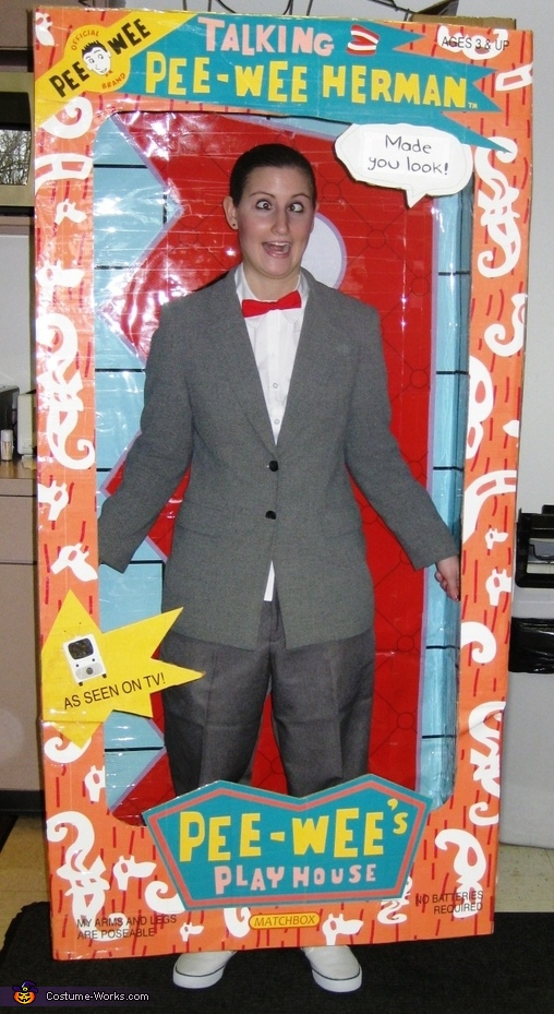 Pee Wee Herman Doll Homemade Costume