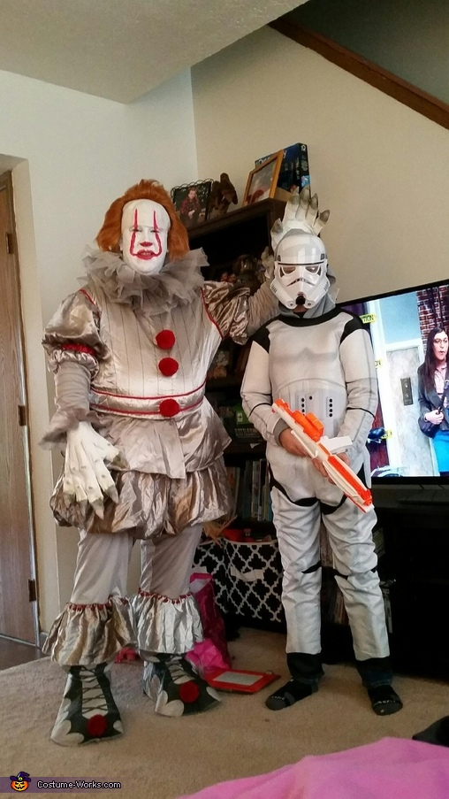 Me and my son the storm trooper, Pennywise Costume