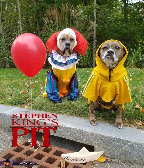 group picture posing ideas - Pennywise and Georgie Dogs Costume