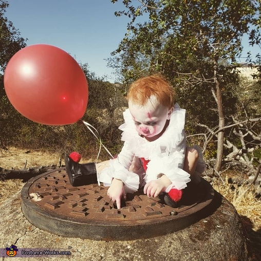 Pennywise the Dancing Clown Baby Homemade Costume