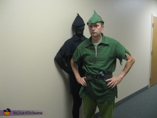 Waiting in the hallway, Peter Pan and His Shadow Costume