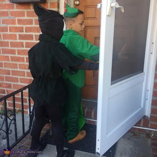 Peter Pan and Pan's Shadow Homemade Costume