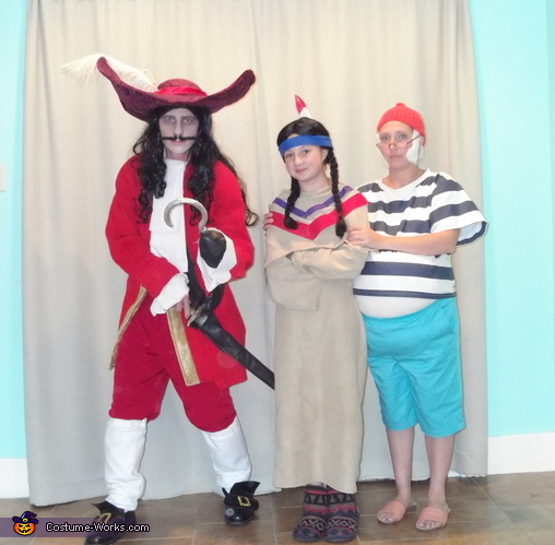 Captain Hook, Tiger Lily and Mr. Smee, Peter Pan and the Crew Costume