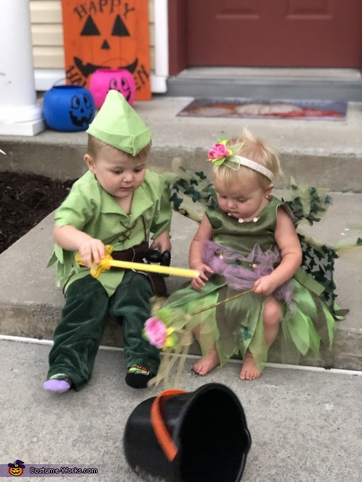 Check out my light sword, Peter Pan and Tinker Bell Costume
