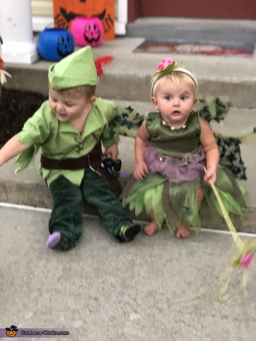 We have a cool sword and wand, Peter Pan and Tinker Bell Costume